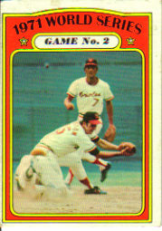 1972 Topps Baseball Cards      224     Dave Johnson/Mark Belanger WS